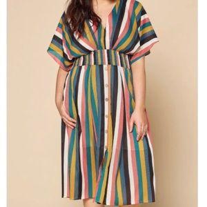 Multi-colored Midi Dress